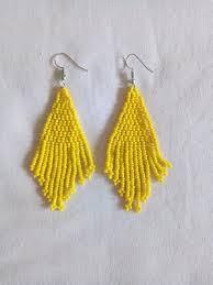 yellow earrings tribal earrings african