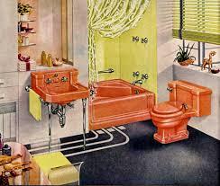 retro bathrooms vintage interior decor