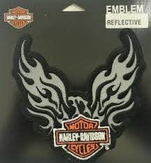 Harley Davidson Reflective Phoenix B S 5 Motorcycle Vest Sew On Patch Em347062 Ebay