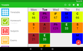 timetable schedule maker apps for android