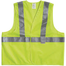 yellow reflective personal safety vest