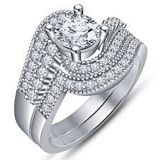 3d cad model beautiful bridal ring set