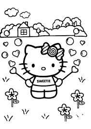 Hello Kitty In De Tuin Hello Kitty Kleurplaten Kleurplaat Com