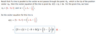 is parallel to the vector v chegg