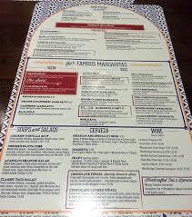 margaritas mexican restaurant nutrition