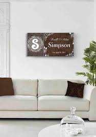 Custom Family Name Established Date Stretched Canvas Wall Art We Muralmax Interiors