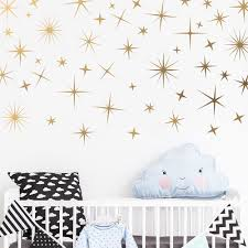 56pcs Set Baby Nursery Gold Stars Wall Stickers Sparkle Wall Decals Children Room Vinyl Decal Removable Home Decor Mural Jw324 Wall Stickers Aliexpress