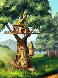 Tree House Wall Decal Wallmonkeys Com