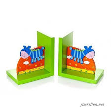Accents 3d Safari Themed Kids Wooden Decorative Bookends For Boys Or Girls Nursery Or Bedroom Kids Room Decor Accents Home Decor
