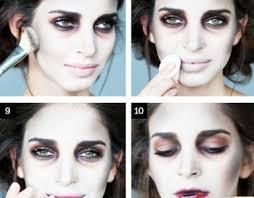 easy zombie makeup step by saubhaya