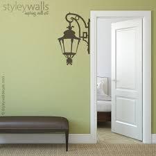 Street Lamp Wall Decal Corner Lamp Wall Decal Lamp Wall Etsy