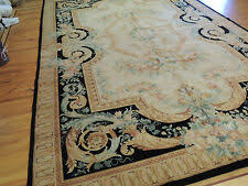 aubusson 12 x 18 ft size area rugs for