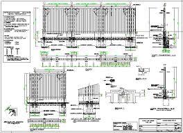 Precast Concrete Perimeter Fence Type Of University Dwg File Cadbull