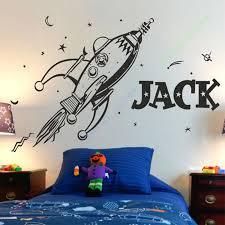 New Style Rocket Wall Sticker Space Boys Bedroom Stickers Art Vinyl Personalise Kids Name Stars Decal Star Decals Wall Sticker Spacestickers Space Aliexpress