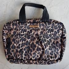 secret leopard print makeup pouch
