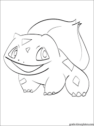 Pokemon Bulbasaur Om In Te Kleuren Gratis Kleurplaten