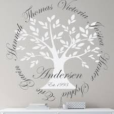 Alphabet Garden Designs Personalized Family Tree Wall Decal Reviews Wayfair