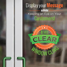 Custom Window Cling Printing