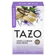 vanilla bean macaron tazo tea