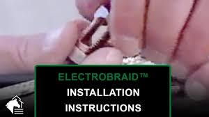 Electrobraid Installation Instructions Electrification Youtube