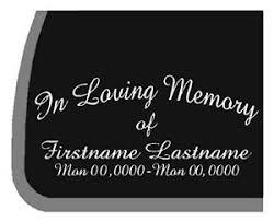 Custom In Loving Memory Rip Car Decal Sticker Ebay