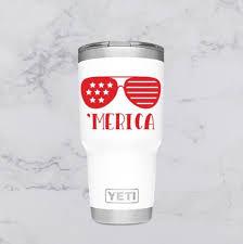 Merica Sunglasses Decal Sticker America Usa Patriotic For Etsy