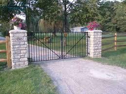 Custom Wrought Iron Driveway Gates Fortin Ironworks