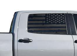Amazon Com Distressed Usa Flag Decals For Toyota Tundra Crew Max In Matte Black For Side Windows American Flag Accessory Tc3a Handmade