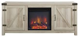 offex 58 barn door fireplace tv stand