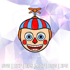 Balloon Boy Fnaf Five Nights At Freddys Characters Layered Svg Dxf Vector Stencil Silhouette Cricut Cameo Vinyl Tshirt Vinyl Tshirts Creepy Clown Cricut Vinyl