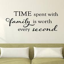 Time Spent With Family Wall Quotes Decal Wallquotes Com