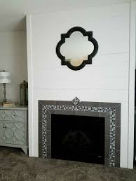 faux wall and tile fireplace surround