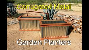 redwood and metal planters how to