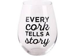 oversized stemless wine glass