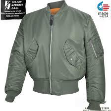 valley apparel ma 1 flight jacket