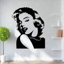 Classic Characters Marilyn Monroe Wall Sticker Beauty Salon Wall Decoration Bar Window Poster Living Room Vinyl Murals Art Decals Walls Deco Stickers For Walls From Joystickers 14 07 Dhgate Com