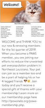 Welcome! New & Renewing Members Chelsea Veldhuizen Madge Smith ...