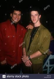 Mario Lopez and actor Dustin Diamond ...