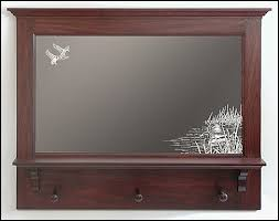 hunting themed mirrors etched hunter