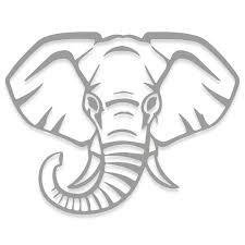 Elephant Face Vinyl Decal Decalfly