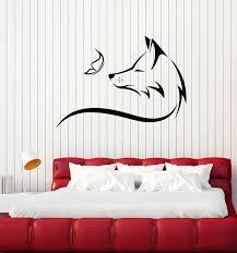 Vinyl Wall Decal Animal Fox Sly Head Predator Butterfly Kids Room Stic Wallstickers4you