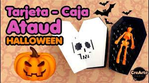 Tarjetas Halloween Tipo Caja Ataud Para Fiestas De Disfraces