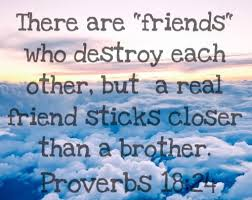 bible verse about friendship and real friends proverbs