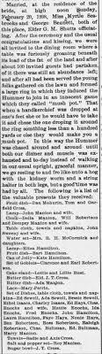 Heck and Myrtle Bennett Wedding - Newspapers.com