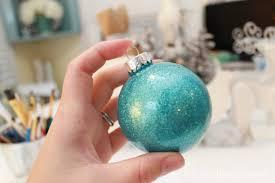glitter filled glass ornaments