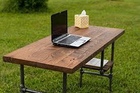 reclaimed wood desk table rustic