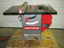 Craftsman 10 Table Saw W 1 1 2 Hp Motor Rip Fence Saw Guard On Popscreen