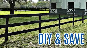 How To Set Wooden Fence Posts In Concrete Install Three Rail Fence Post Rail Fence Youtube