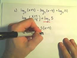 solving logarithmic equations example