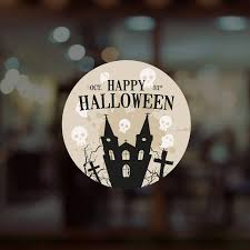 Takeaway Sign Happy Halloween Shop Window Sticker Retail Display Decoration Vinyl Decal Indianbusinesstrade Com